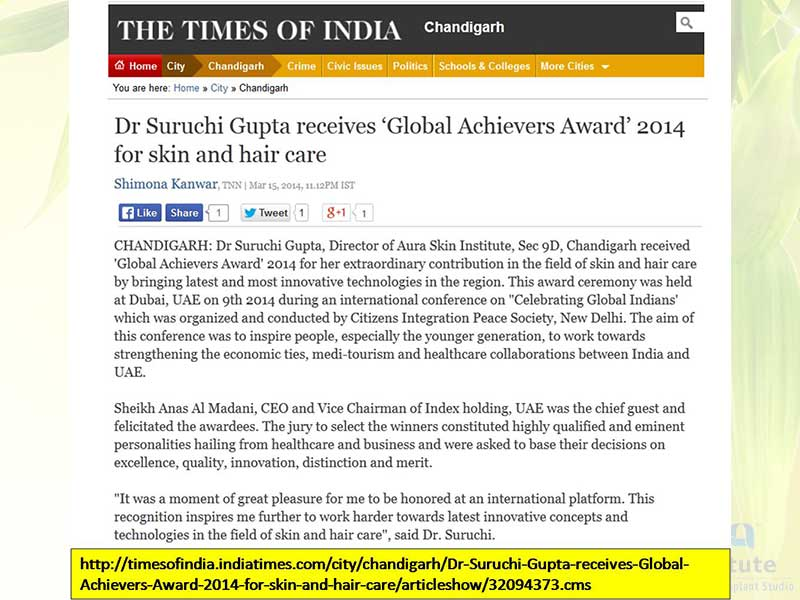 """Global Achievers Award"" 2014"