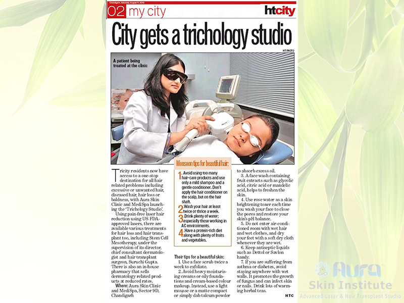 "Launch of ""Trichology Studio"" at Aura Skin Institute"