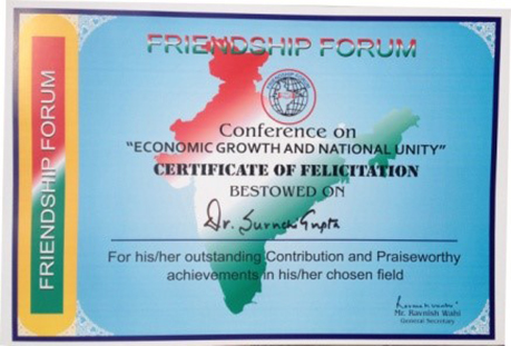 Economic Growth And National Unity - Certificate of Felicitation