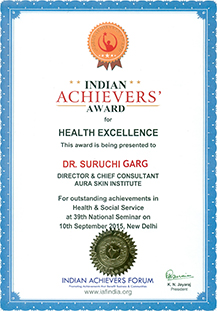 Indian Achievers Award Health Excellence, 2015