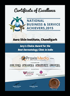 National Business & Service Achievers Certificatem 2015